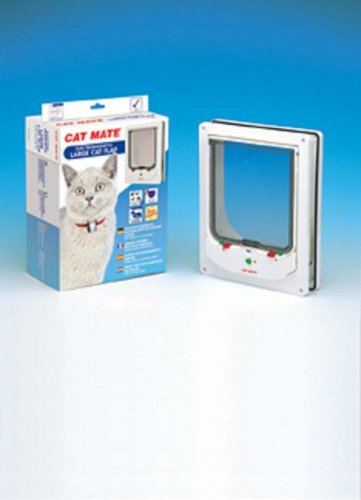 Cat Mate Electromagnetic Large Cat Flap (White)