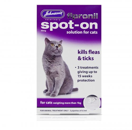 Johnsons Fipronil Spot-On for Cats 15 Week Pack