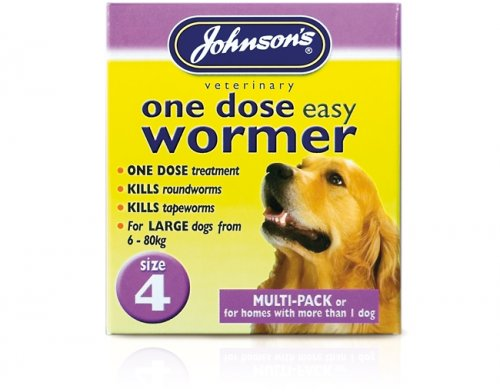 Johnsons One Dose Wormer Size 4