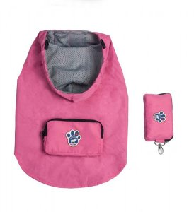 Canada Pooch Pacific Poncho Rain Coat Pink Size 10