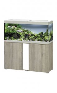 Eheim Vivaline LED 240 Aquarium with Cabinet Oak Grey with White Panel