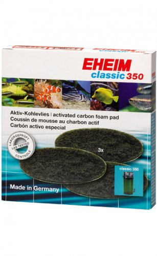 Eheim 2215 Classic 350 Activated Carbon Foam Filter Pads