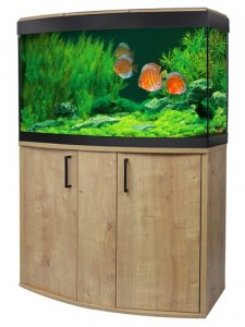 Fluval Vicenza 180 LED Aquarium & Cabinet Oak