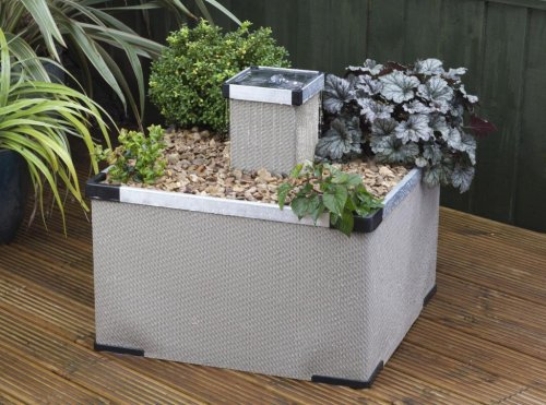 Blagdon Liberty Planter Sand Aluminium Feature
