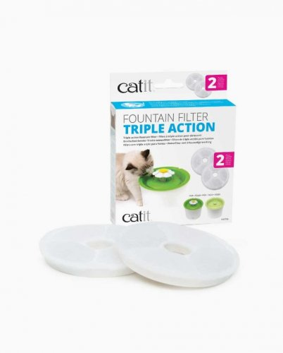Catit Fountain Filter Triple Action 2 Pack