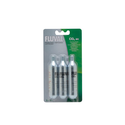 Fluval Pressurized Disposable CO2 Cartridges 20g (3pcs)