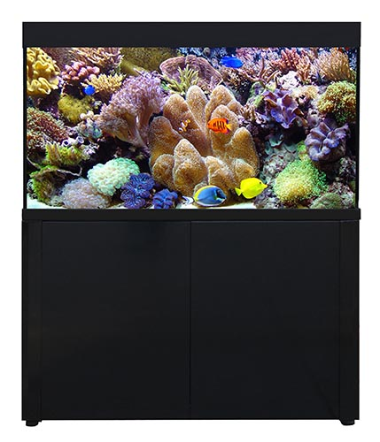 Aquareef 400 Series 2 Aquarium and Cabinet Black