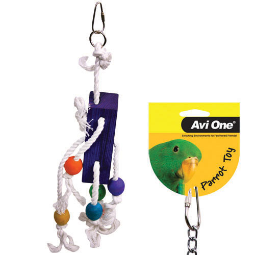Avi One Coloured Wood & Rope Blocks & Beads
