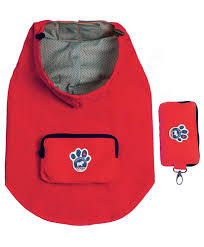 Canada Pooch Pacific Poncho Rain Coat Red Size 18