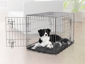 Dogit 2 Door Black Wire Home Small