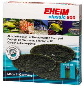Eheim 2217 Classic 600 Activated Carbon Foam Filter Pads