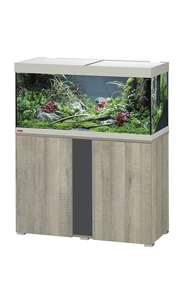eheim vivaline led 180 aquarium with cabinet oak grey. Black Bedroom Furniture Sets. Home Design Ideas