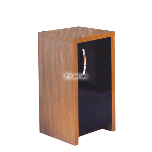 Inspire 40 Cabinet Walnut with Black Gloss Door