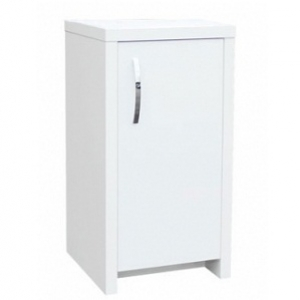 Inspire 40 Cabinet White with White Gloss Door