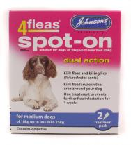 Johnsons 4Fleas Dual Action Spot On for Medium Dogs
