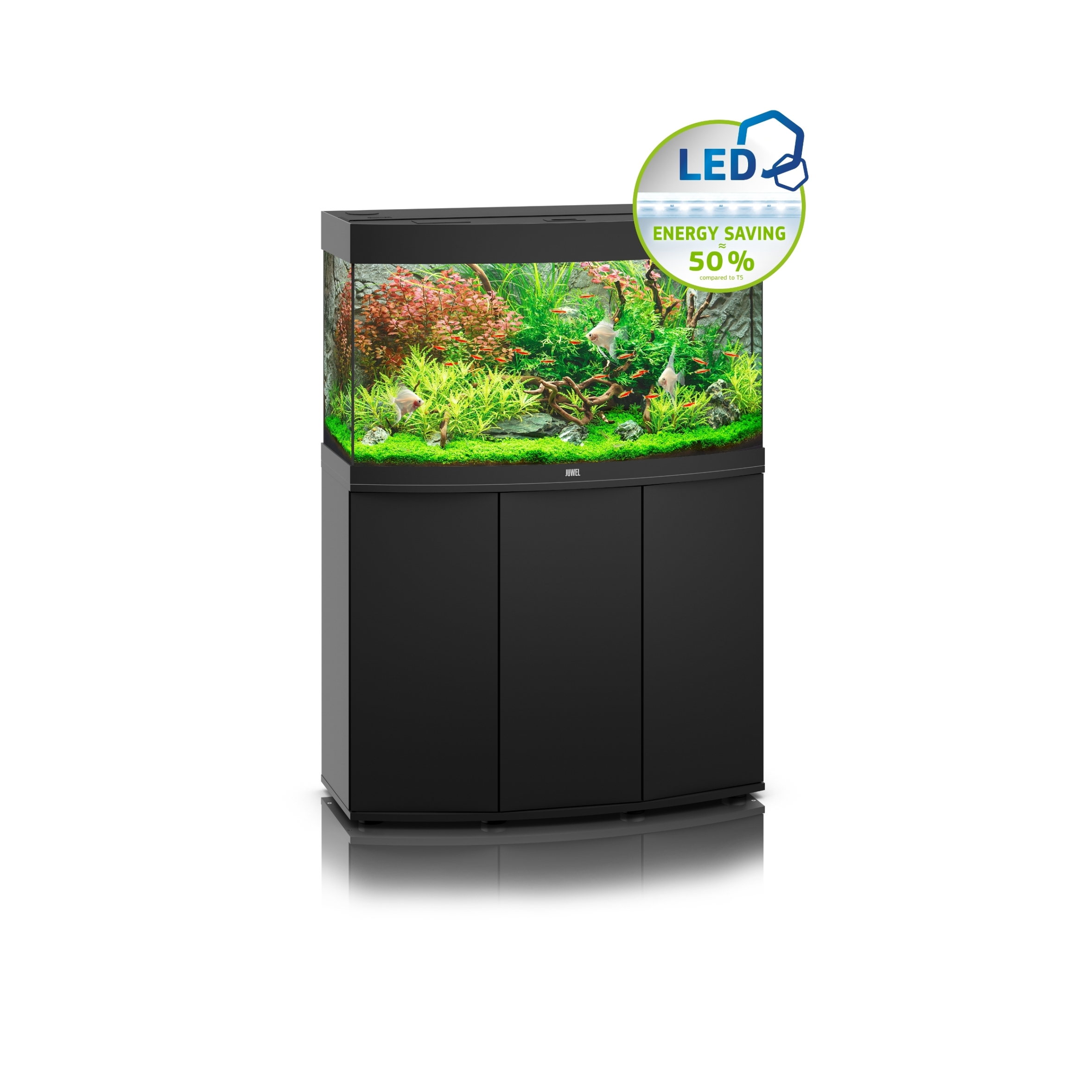 juwel vision 180 led aquarium with free cabinet black 4022573093520. Black Bedroom Furniture Sets. Home Design Ideas