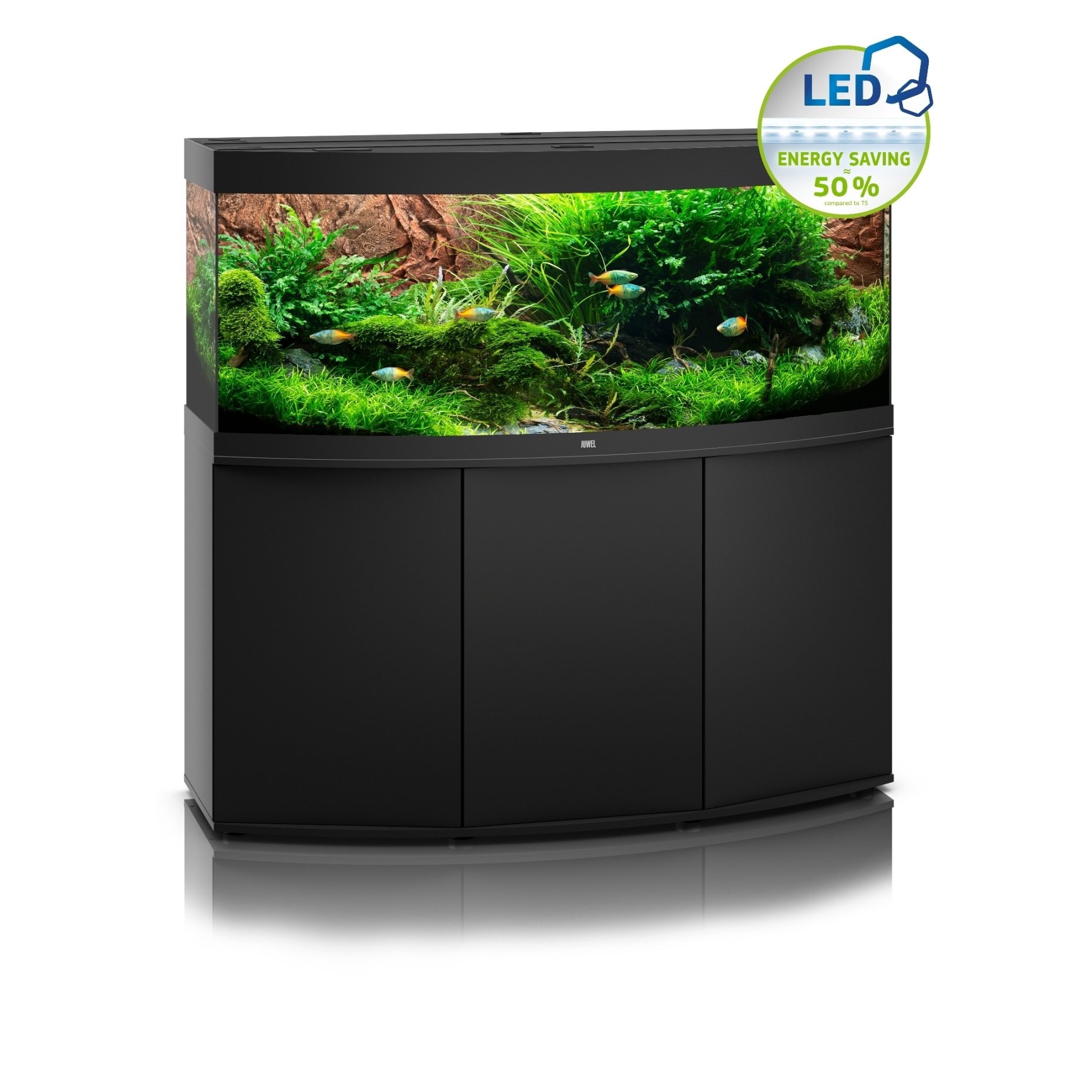 juwel vision 450 led aquarium with cabinet black 4022573103526 1. Black Bedroom Furniture Sets. Home Design Ideas