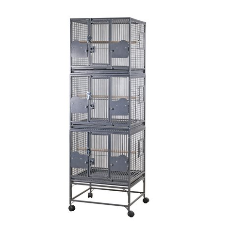 Rainforest Triple Parrot Cage Antique