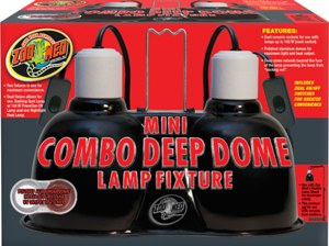 Zoo Med Mini Deep Dome Combo Lamp Fixture