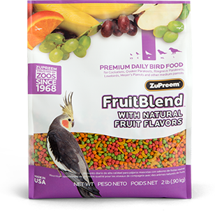 ZuPreem Fruit Blend Medium 2lb (0.9kg)